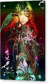 Britney  Acrylic Print by Bogdan Floridana Oana