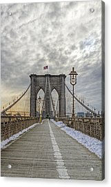 Acrylic Print featuring the photograph Brooklyn Bridge by Jerry Gammon
