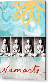 Buddha Acrylic Print by Linda Woods