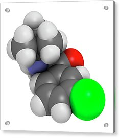 Bupropion Antidepressant Drug Acrylic Print by Molekuul