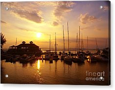 Burlington Boat House.  Acrylic Print