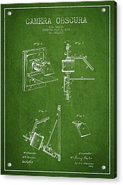 Camera Obscura Patent Drawing From 1881 Acrylic Print