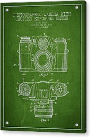 Camera Patent Drawing From 1962 Acrylic Print