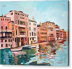 Canal Grande Acrylic Print by Filip Mihail