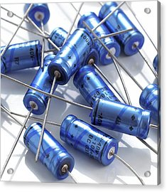 Capacitors Acrylic Print by Science Photo Library