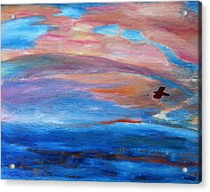 Acrylic Print featuring the painting Cape May Sunset by Vadim Levin