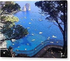 Capri Acrylic Print by Ze  Di