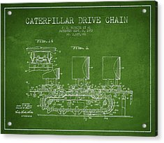 Caterpillar Drive Chain Patent From 1952 Acrylic Print by Aged Pixel