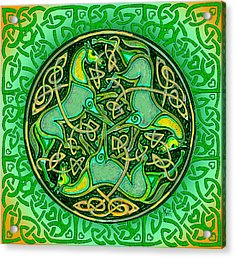3 Celtic Irish Horses Acrylic Print by Michele Avanti