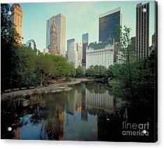 Central Park Acrylic Print by Rafael Macia