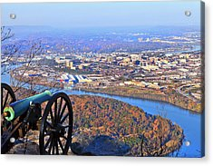 Chattanooga In Autumn Acrylic Print by Melinda Fawver