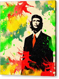 Che Guevara Acrylic Print by Celestial Images