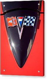 Chevrolet Corvette Hood Emblem Acrylic Print by Jill Reger
