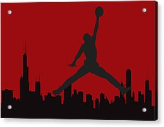 Chicago Bulls Acrylic Print by Joe Hamilton