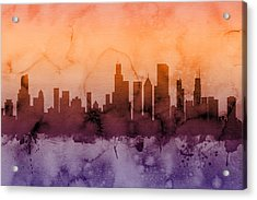 Chicago Illinois Skyline Acrylic Print