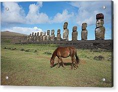 Chile, Easter Island, Hanga Nui Acrylic Print by Cindy Miller Hopkins