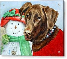 Christmas Acrylic Print by Irina Sztukowski