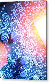Circuit Board Abstract Acrylic Print by Konstantin Sutyagin