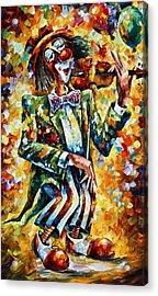 Clown Acrylic Print by Leonid Afremov