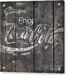 Coca Cola Sign Acrylic Print by John Stephens