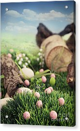 Colorful Easter  Acrylic Print by Mythja  Photography