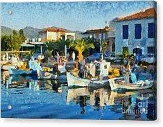 Colorful Port Acrylic Print by George Atsametakis