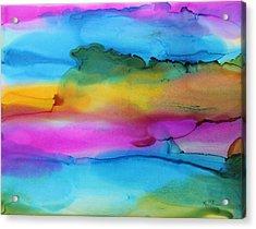3 Colors Horizontal Abstract Acrylic Print by Kim Thompson