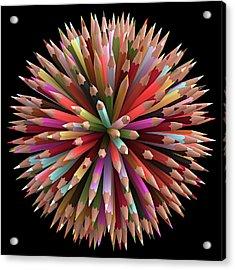 Colouring Pencils Acrylic Print