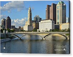 Columbus Ohio Skyline Photo Acrylic Print