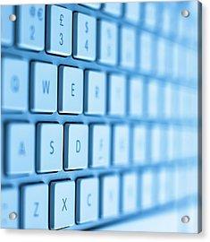 Computer Keyboard Acrylic Print
