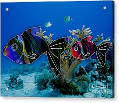 Coral Reef Painting Acrylic Print