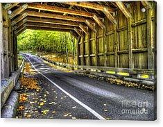 Covered Bridge At Sleeping Bear Dunes Acrylic Print by Twenty Two North Photography