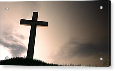 Crucifix On A Hill At Dawn Acrylic Print