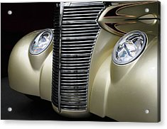 Acrylic Print featuring the photograph Custom Car Detail by Dave Mills