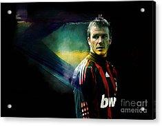 David Beckham Acrylic Print