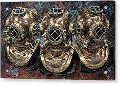 3 Deep-diving Helmets Acrylic Print