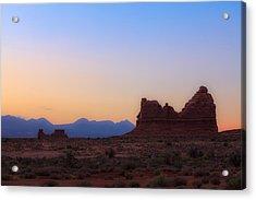 Desert Sunrise Acrylic Print by Jonathan Gewirtz