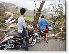 Destruction After Super Typhoon Haiyan Acrylic Print