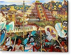 Diego Rivera Mural Mexico City Acrylic Print