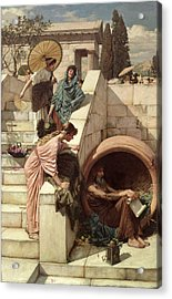 Diogenes Acrylic Print by John William Waterhouse