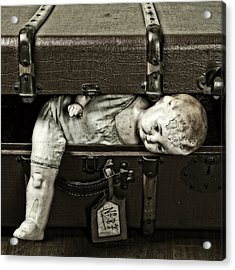 Doll In Suitcase Acrylic Print by Joana Kruse