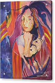 Dreams And Nightmares Acrylic Print by Diana Bursztein
