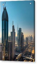 Dubai Skyline Acrylic Print by Fototrav Print