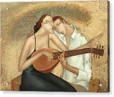 Duet Acrylic Print by Nicolay  Reznichenko