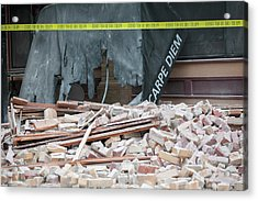 Earthquake Damage Acrylic Print