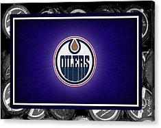 Edmonton Oilers Acrylic Print by Joe Hamilton