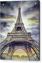 Eiffel Tower  Acrylic Print by Irina Sztukowski