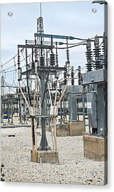 Electricity Transformation Substation Acrylic Print by Photostock-israel