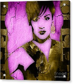 Empire's Grace Gealey Anika Gibbons Acrylic Print by Marvin Blaine