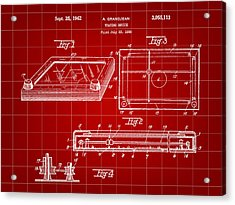 Etch A Sketch Patent 1959 - Red Acrylic Print